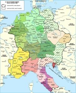 i territori del Sacro Romano Impero a cavallo dell'anno 1000 d.C.